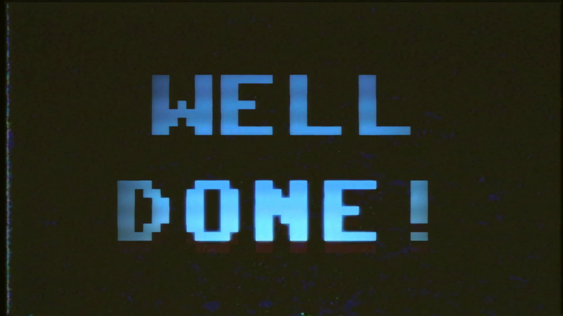 Videogame Well Done Vhs. A fake VHS videogame screen with the text Well done.  8 bit retro style. Stock Video Footage - VideoBlocks - Well Done PNG HD