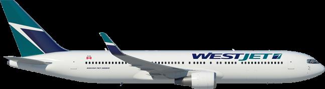 WestJet Boing 767-300ERW - Westjet Airlines Logo PNG