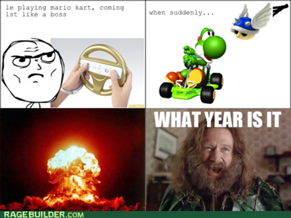 le playing mario kart, coming 1st like a boss when suddenly PlusPng.com WHAT YEAR