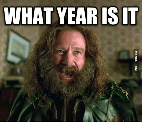 Robin Williams Jumanji What Year Is It: VIA 9GAG.COM - What Year Is It PNG