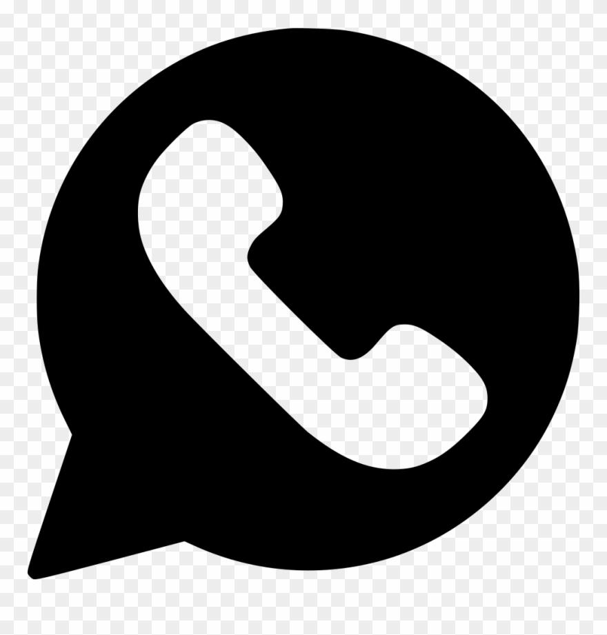 Whatsapp Logo Transparent Png - Whatsapp Logo Vector Black Clipart Pluspng.com  - Whatsapp Logo PNG