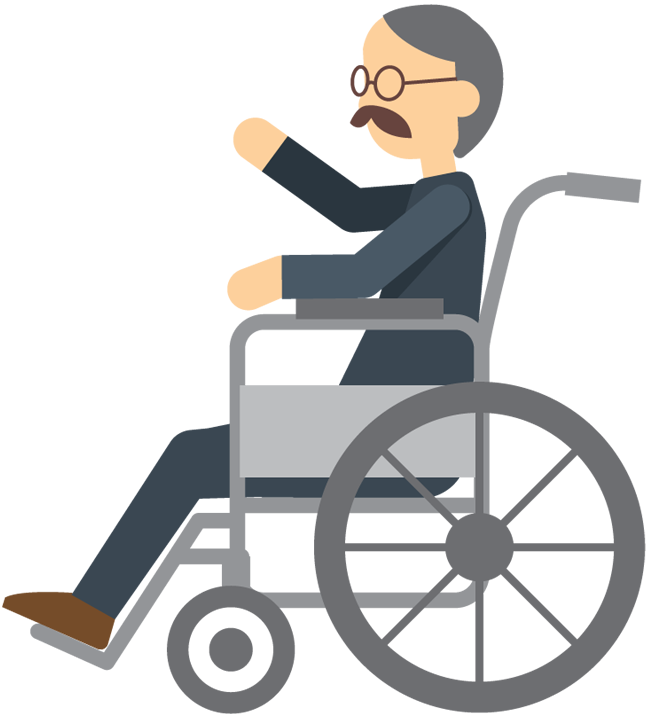 Wheelchair Elderly PNG - 64111