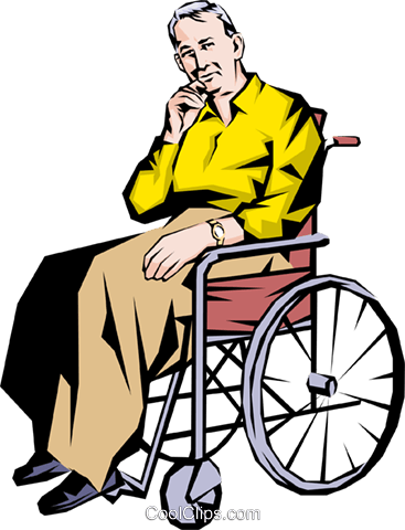 Old man in a wheelchair Royalty Free Vector Clip Art illustration - Wheelchair Elderly PNG