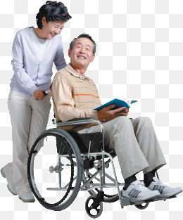 Pushing a wheelchair for the elderly, Health, Wheelchair, Hospital PNG Image - Wheelchair Elderly PNG