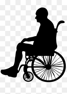 Silhouette of elderly wheelchair, Silhouette Of Elderly Wheelchair,  Silhouette Of The Elderly, Sketch · PNG - Wheelchair Elderly PNG