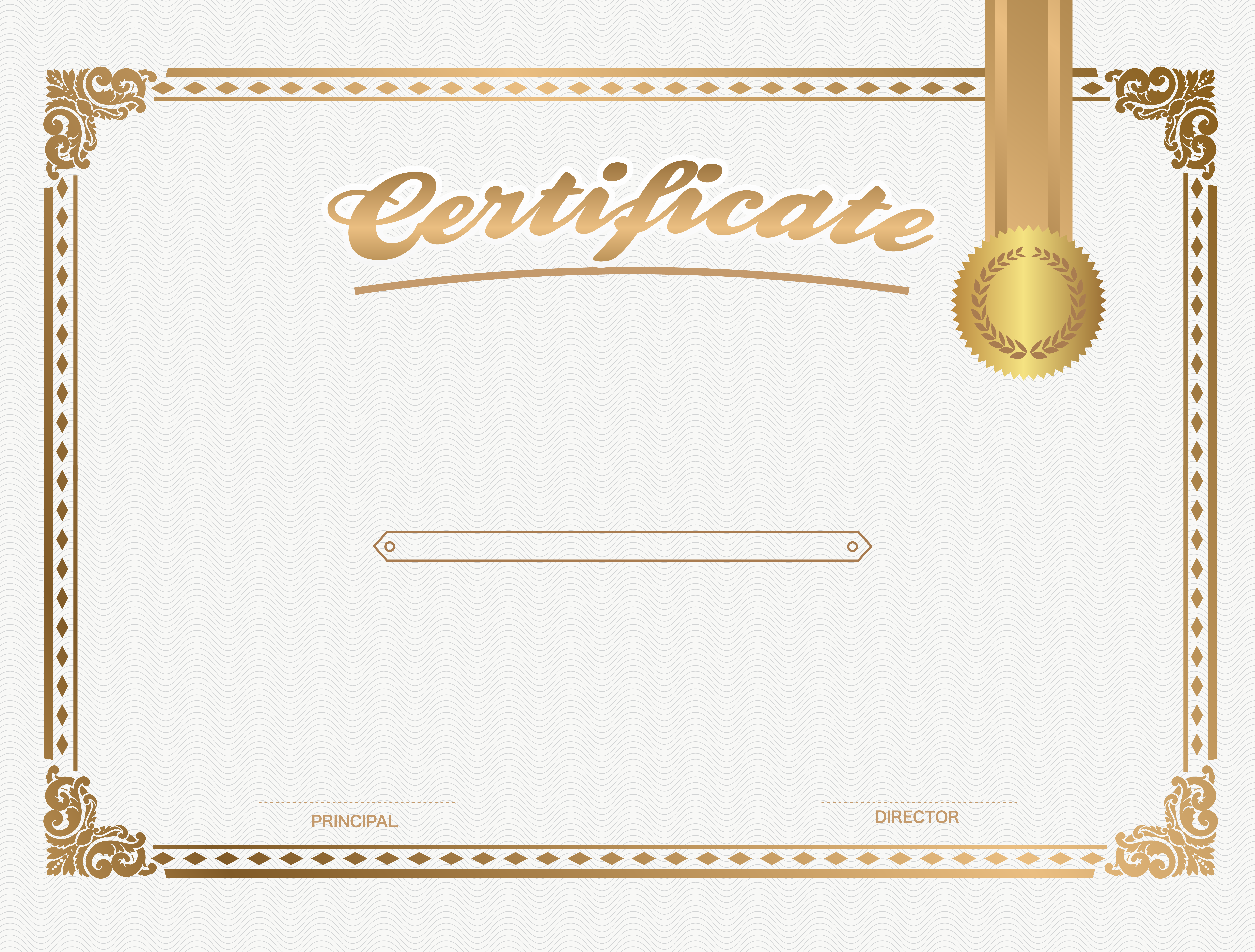 White Certificate Template PNG Image   Certificate Template PNG  Certificate Templates