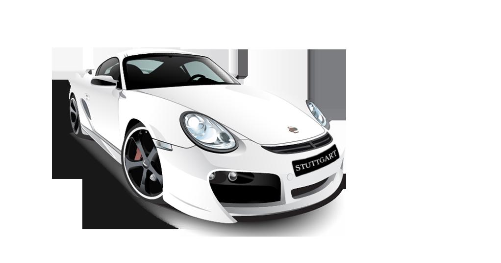 White Porsche PNG