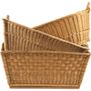 Jayson Home Vintage Wicker Basket - Wicker Basket PNG