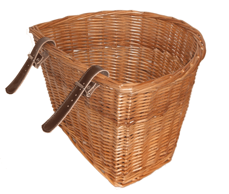 Medium Wicker bike basket Medium Wicker bike basket-back - Wicker Basket PNG
