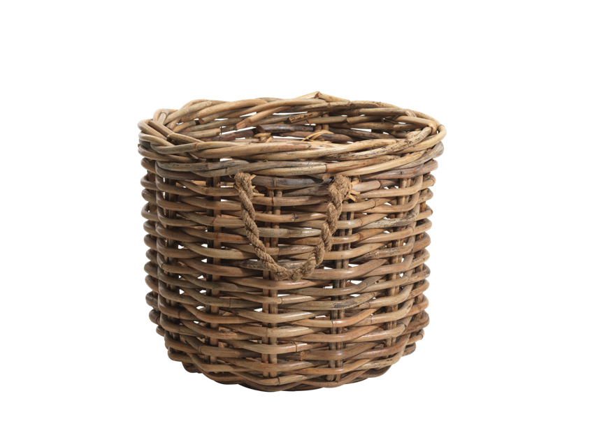 Rattan Chunky Basket - Wicker Basket PNG