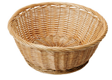 Round Shape Food Wicker Tray Hand Weaving Wicker Basket - Wicker Basket PNG
