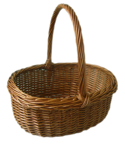 Wicker Cooking Basket - Wicker Basket PNG