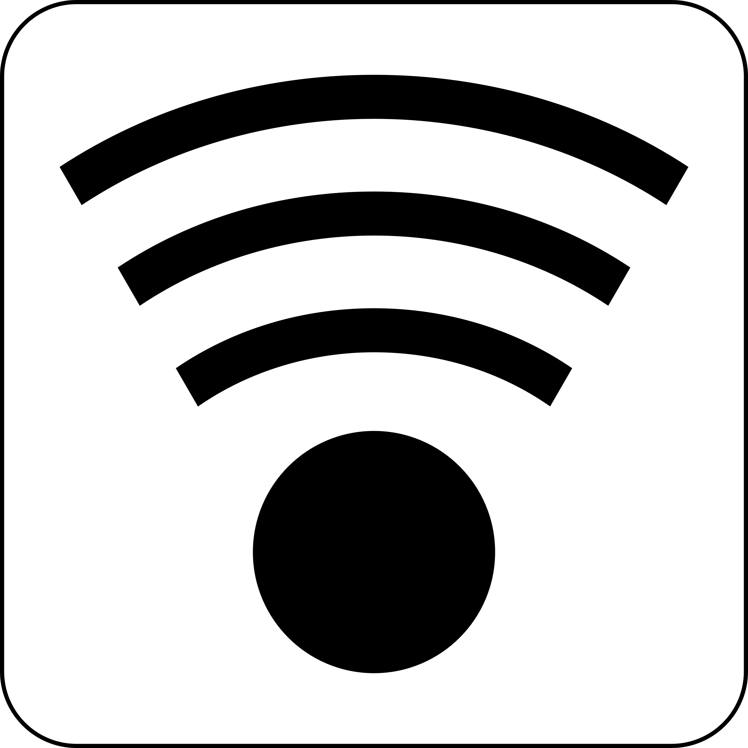 BIG IMAGE (PNG) - Wifi PNG Black And White