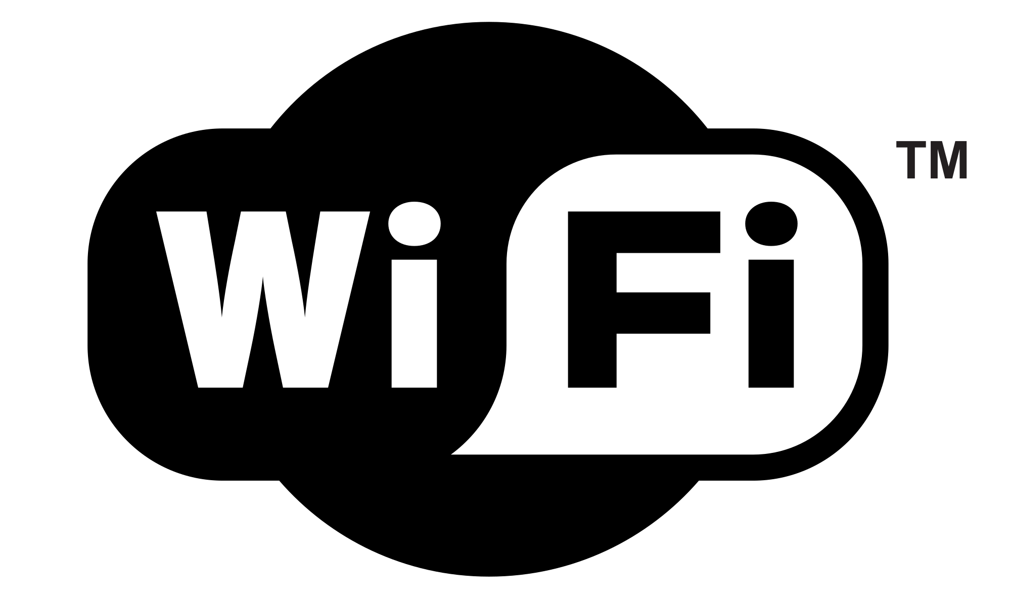Wifi PNG Black And White - 162398