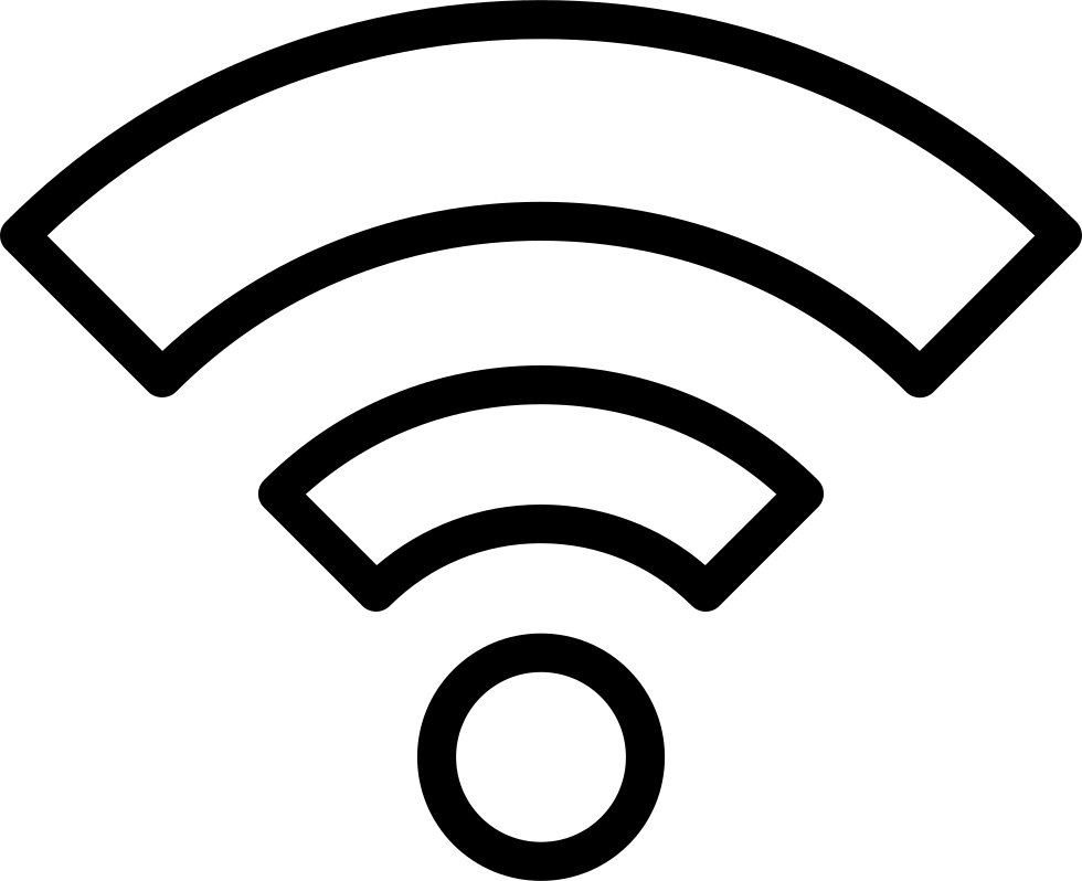 Wifi PNG Black And White - 162407