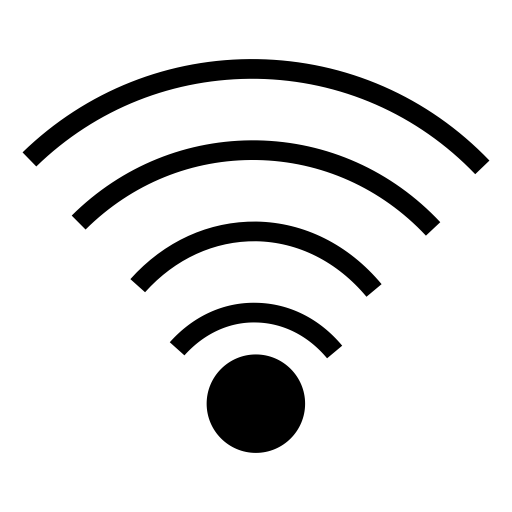 Wifi PNG Black And White - 162405