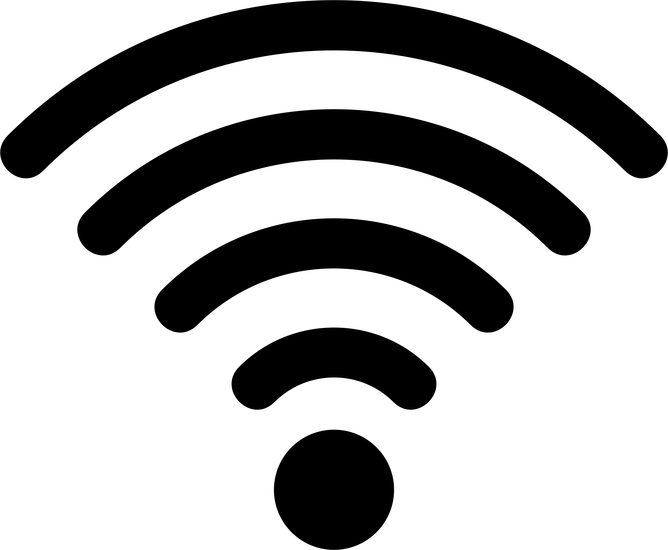 Wifi PNG Black And White - 162402