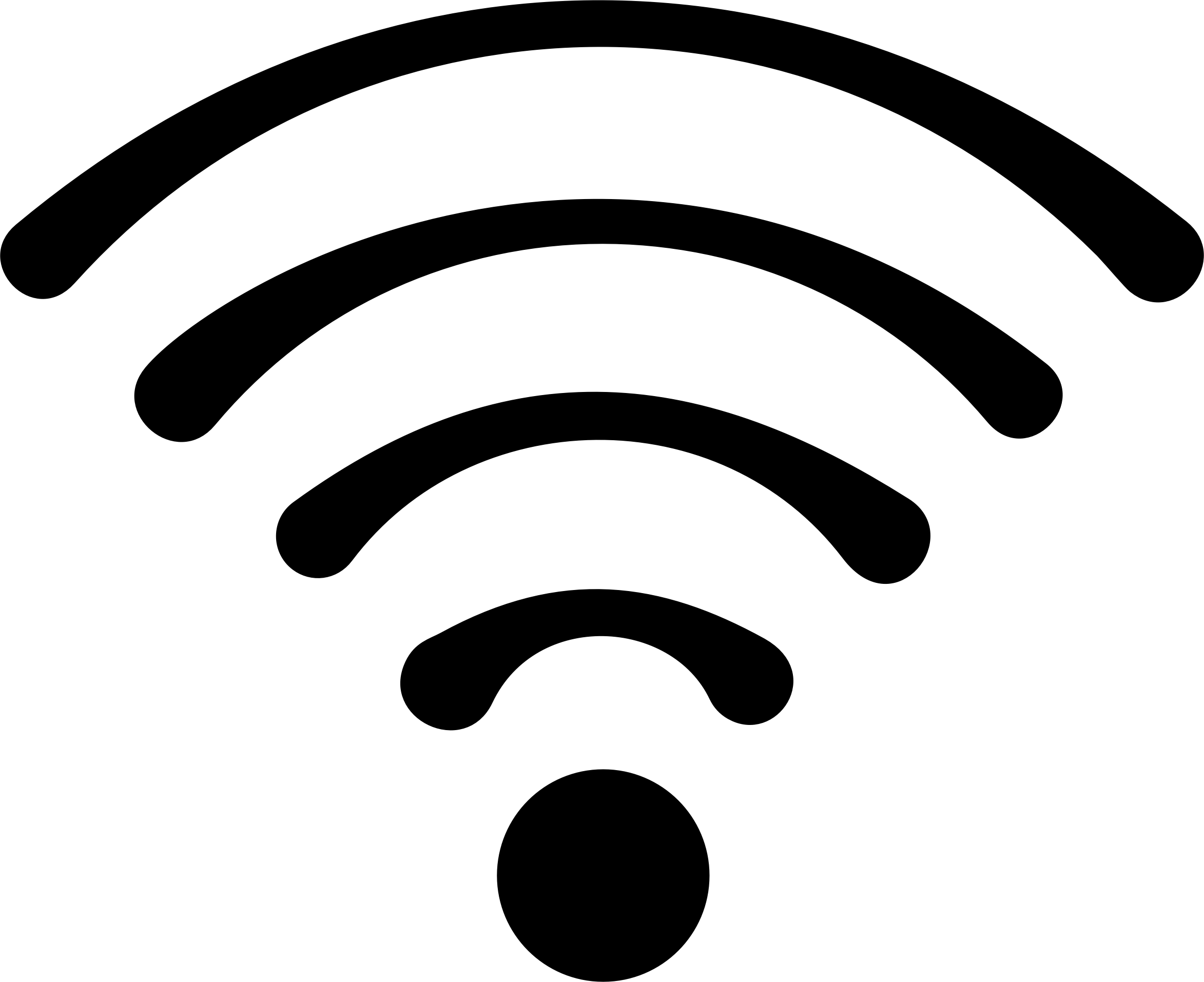 Wifi PNG Black And White - 162390
