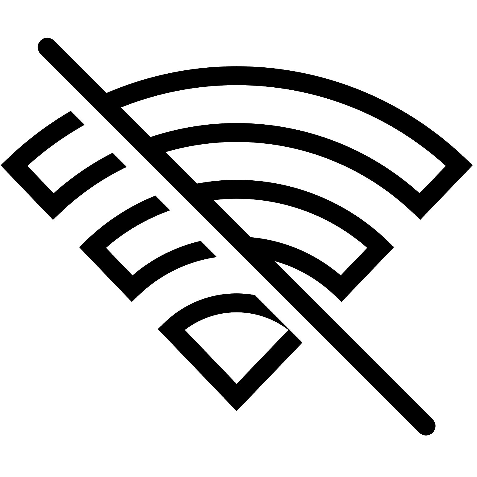 Wifi PNG Black And White - 162400