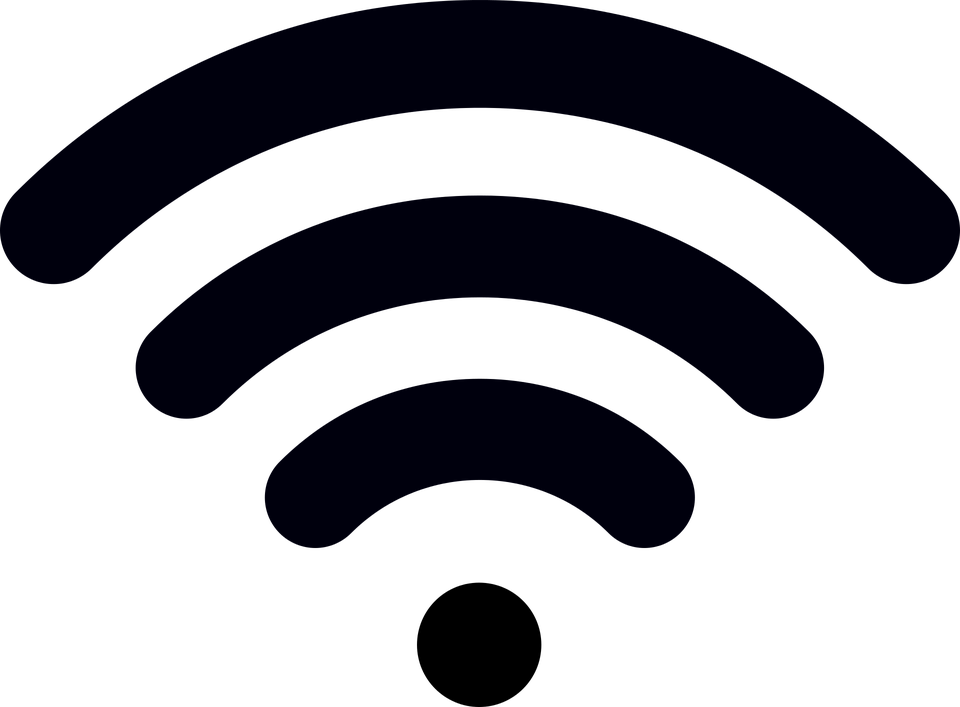 Wifi PNG Black And White - 162391