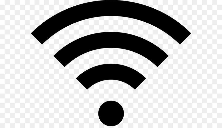 Wi-Fi Wireless network Icon Clip art - Wifi icon PNG - Wifi PNG Black And White
