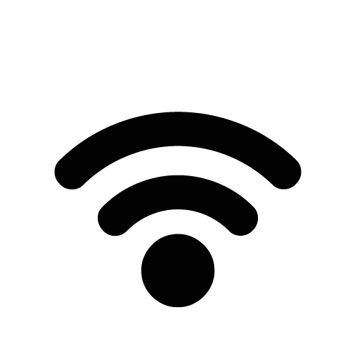 Wifi PNG Black And White - 162401