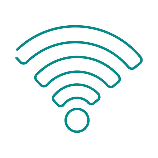 Blue wifi line icon2.svg Transparent PNG - Wifi PNG