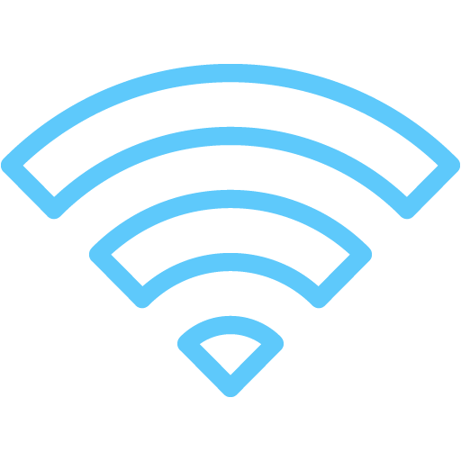 Caribbean blue wifi 3 icon - Wifi PNG