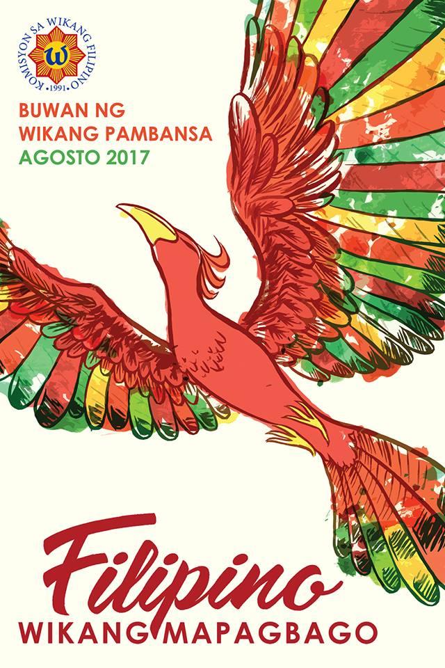 official poster Buwan ng Wika 2017 - Wikang Filipino PNG