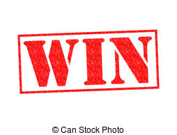 . PlusPng.com WIN Rubber Stamp over a white background. - Win PNG
