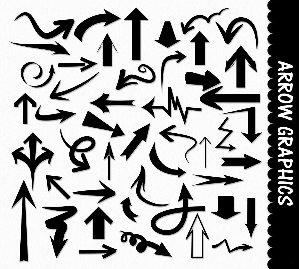Basic Arrow Shapes Clip Art G