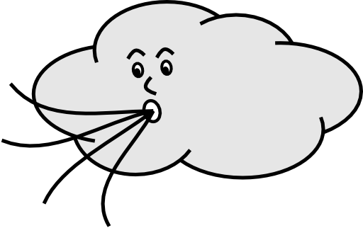Wind Blowing Cloud - Wind Blowing PNG HD