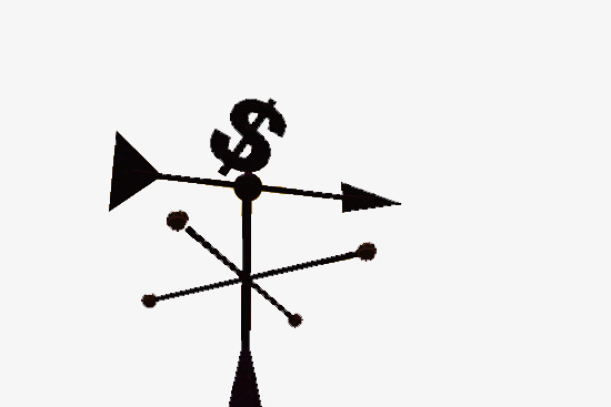 Money vane, Wind Vane, Money, Black PNG Image and Clipart - Wind Vane PNG Black And White
