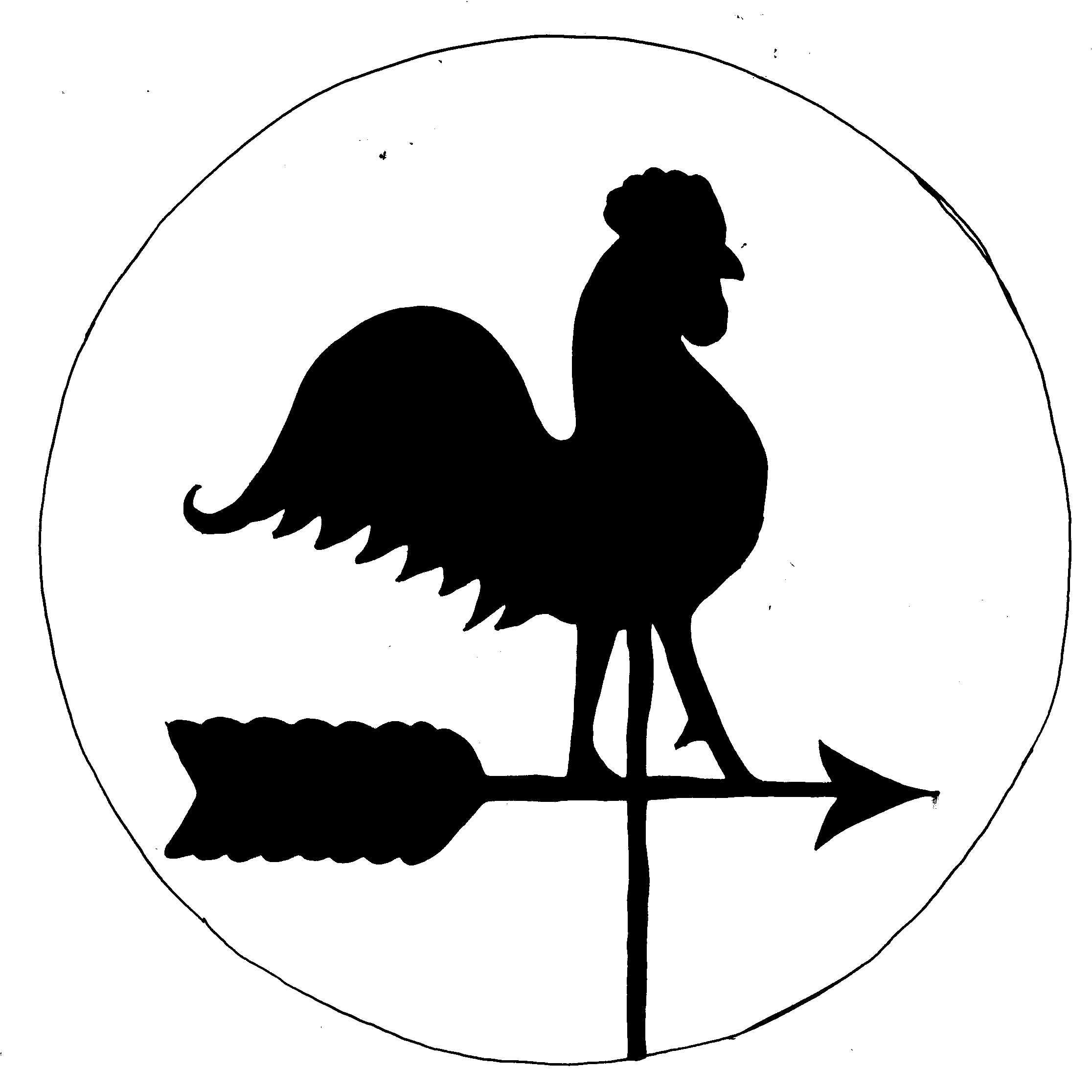 rooster weather vane - Google Search - Wind Vane PNG Black And White