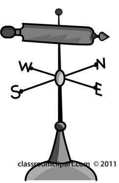 wind-vane-weather-gray.jpg - Wind Vane PNG Black And White