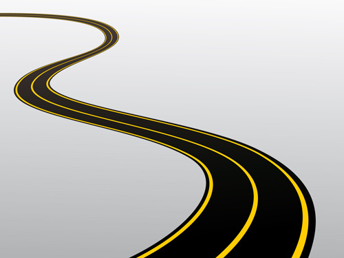 different winding road design vector - Winding Road PNG HD
