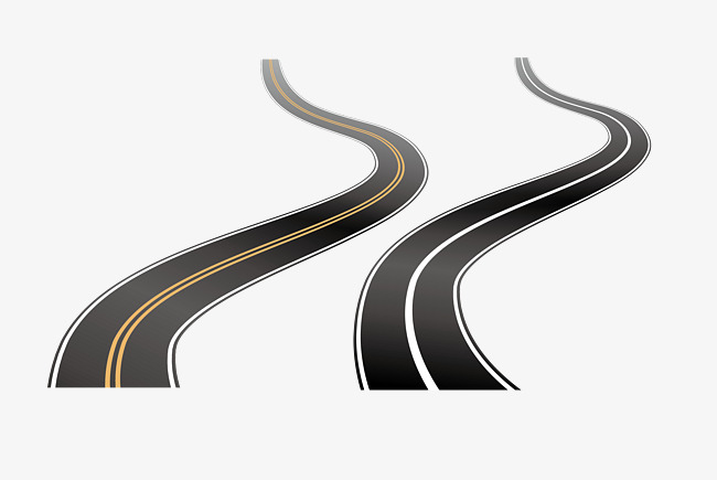 Winding road, Vector Road, The Way, Railway PNG and Vector - Winding Road PNG HD