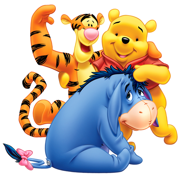 Winnie the Pooh Eeyore and Tiger Transparent PNG Clip Art Image - Winnie The Pooh Eeyore PNG