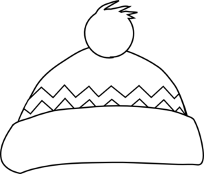 Winter Hat PNG Black And White