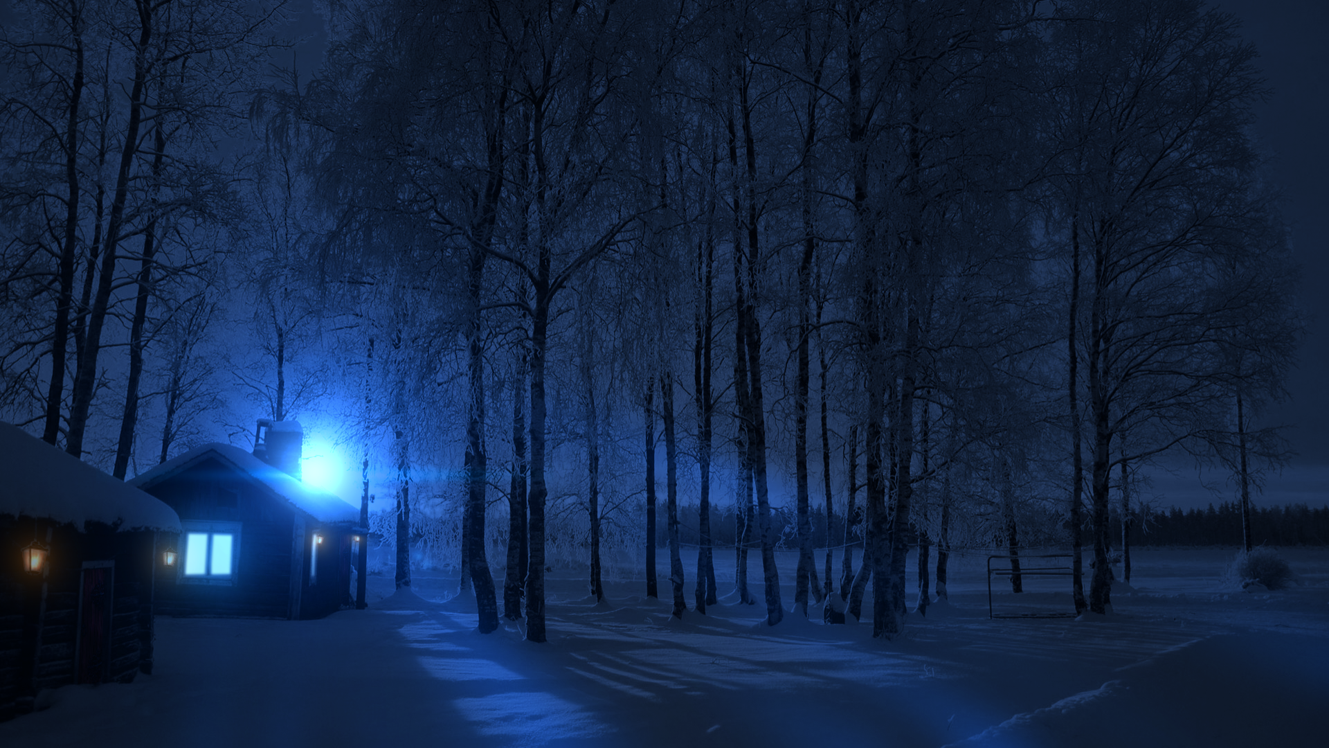 . PlusPng.com Cold Winter Night (Wallpaper HD) By GuncaPMV - Winter PNG HD