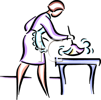 Clean The Table Clipart Dining - Wiping The Table PNG