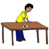 Table Washer - Wiping The Table PNG