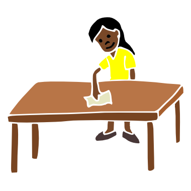Wiping The Table PNG - 55188