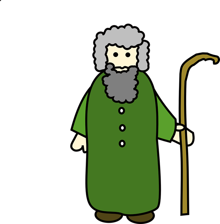Shepard, Old, Man, Stick, Green, Grey, Wise, Care - Wise Man HD PNG