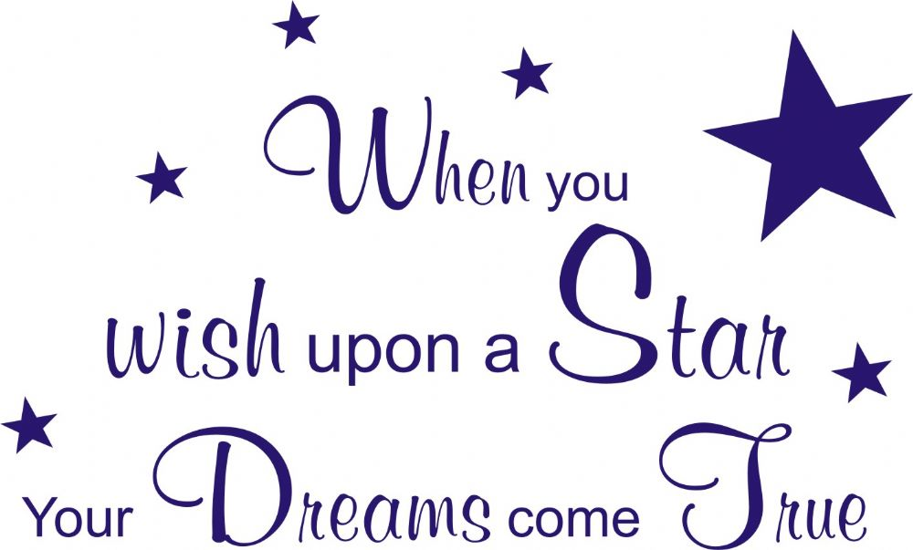 . PlusPng.com When You Wish Upon a Star Quote PlusPng.com  - Wish Upon A Star PNG