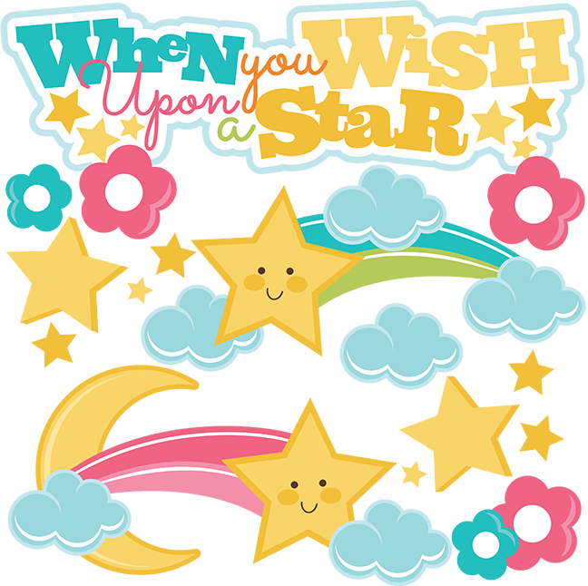 When You Wish Upon A Star SVG files for cutting machines svg files for  scrapbooking free svg cuts - Wish Upon A Star PNG