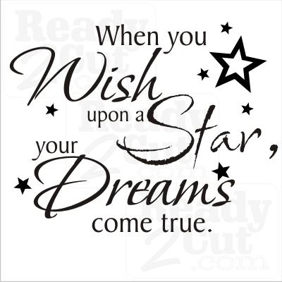When you wish upon a star your dreams come true - vector file download - Wish Upon A Star PNG