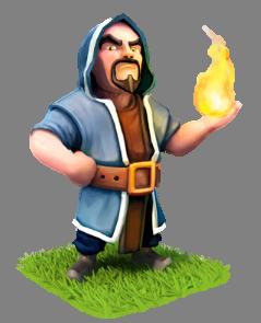 Troop-wizard.png - Wizard PNG