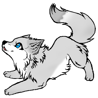 File:Anime Wolf pup.png - Wolf Pup PNG