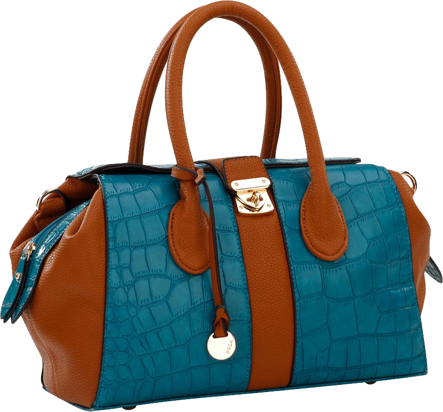 blue women bag PNG image - Women Bag PNG